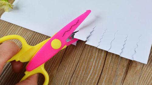 6Pcs 6 Shaped Cutting Patterns Curved Edges Children Handwork Paper Scissors