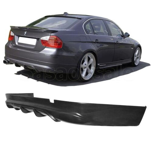 Fit for 05-12 BMW E90 Sedan 4 Door Only AC Style DTM PU Rear Diffuser Bumper Lip
