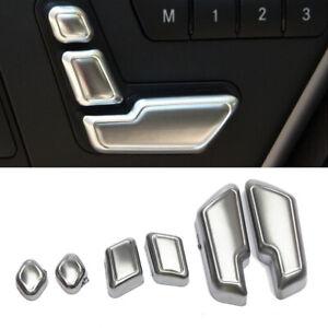 Puerta-De-Asiento-De-Cromo-ajustar-interruptor-de-boton-Ribete-De-Cubierta-Para-Mercedes-Benz-Clase