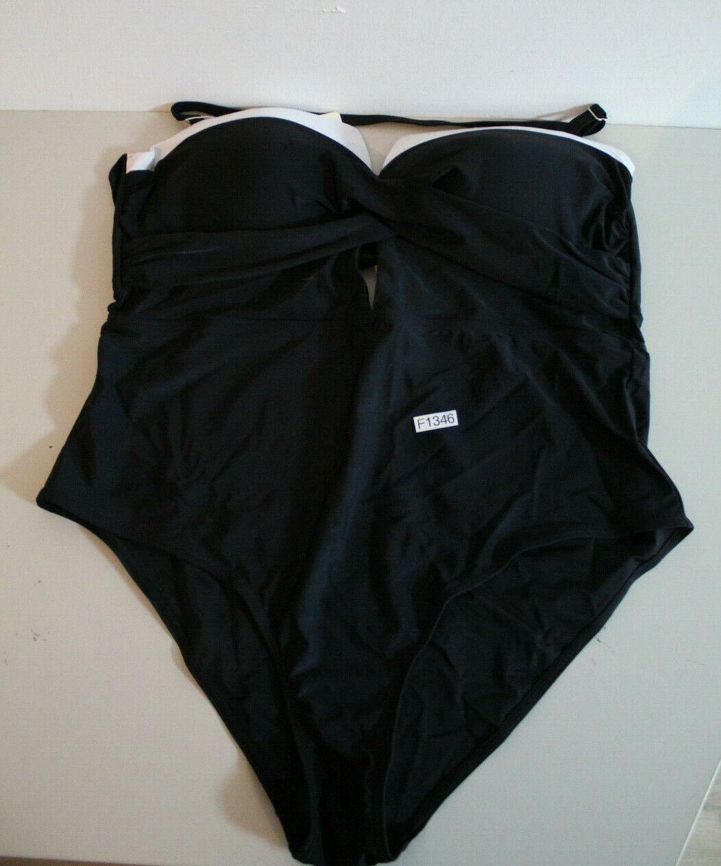 Swimsuit Swimwear La Orchid Plus Size XXXL Womens (F1346-R27)
