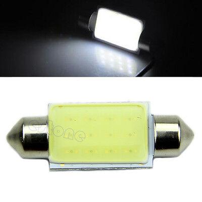 10pcs 41MM 12 Chips White  COB Festoon Dome Map LED Light Lamp Roof Bulb 12V
