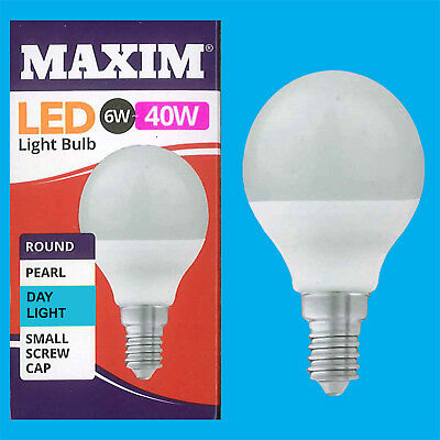 Maxim LED Day Light Candle Light Bulbs BC Pearl 6w=40w NEW