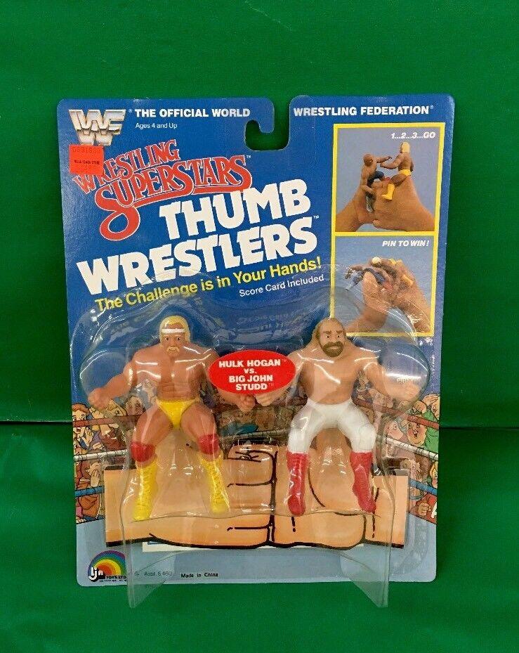 Wrestling Superstars Thumb Wrestlers  Hulk Hogan  VS.  Big John Studd  NIC 1985