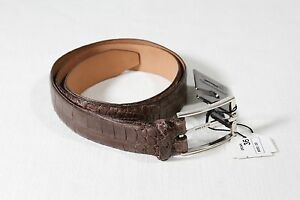 New Martin Dingman USA Light Brown Matte Finish American Alligator Belt Size