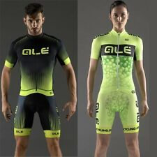 Ale Cycling Jersey Mens Womens Short Sleeve Shirt +Bib Shorts Set Clothes Racing