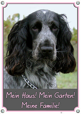 Cocker Spaniel - Hunde Warnschild - Metallschild - Top Qualität - Wetterbeständi