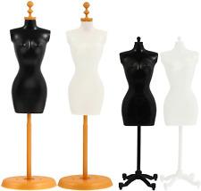 Mini Female Mannequin Torso 4pcs Dress Form Manikin Body With Base Stand