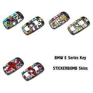 STICKER BOMB Skins to BMW E Series Key Decals Stickers Wrap 1 3 5 6 X3 X5 M3 X M