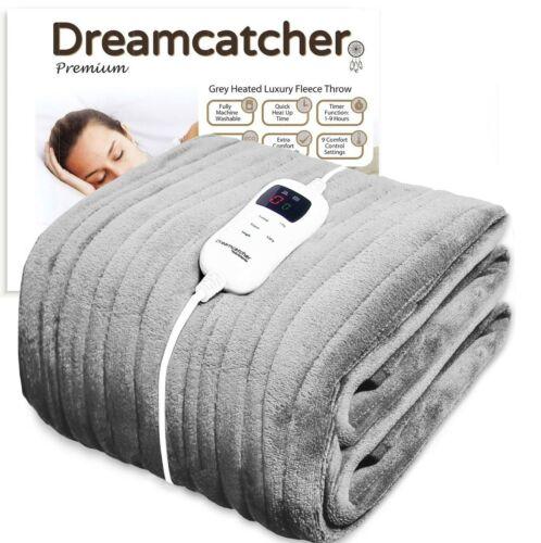 Futura DREAMCATCHER  Grey Heated Luxury Fleece Throw