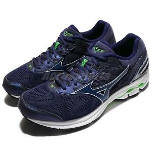 Mizuno-Wave-Rider-21-2E-Wide-Blue-White-Men-Running-Shoes-Sneakers-J1GC18-0419