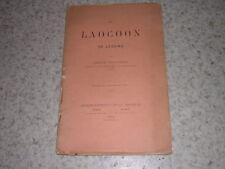 1892.le Laocoon de Lessing / Emile Grucker.envoi autographe