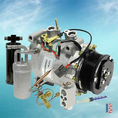 22034C NEW AC KIT COMPRESSOR ACCUMULATOR DRIER & EXPANSION VALVE ORIFICE TUBE