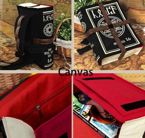 Retro Magic Book Shaped Shoulder Bag Backpack Messenger Bags Canvas USA Shipping