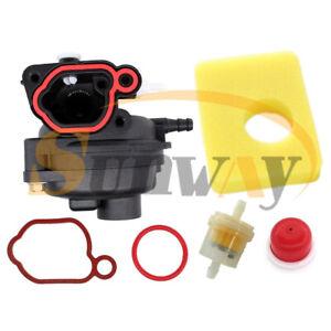 Carburateur-amp-Filtre-a-Air-pour-Briggs-amp-Stratton-590556-799579-Tondeuse-a-Gazon