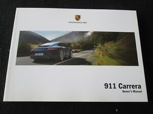 2013 porsche 991 carrera owner s manual us driver s book 911 4s s rh ebay co uk 2014 porsche 911 owners manual pdf 2012 porsche 911 owners manual