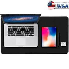 Dual Sided Desk Pad Protector With Pu Leather Laptop Desk Mat Desk Mouse Pad New