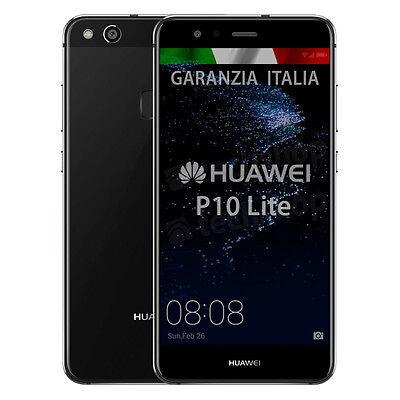 "Huawei • P10 Lite • Black 32Gb • GARANZIA ITALIA • Nero 5.2"" 12Mpix 4G LTE NUOVO"