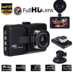 "3.0"" Vehicle HD 1080P Dash Cam Car Dashboard DVR Camera Video Recorder G-Sensor"