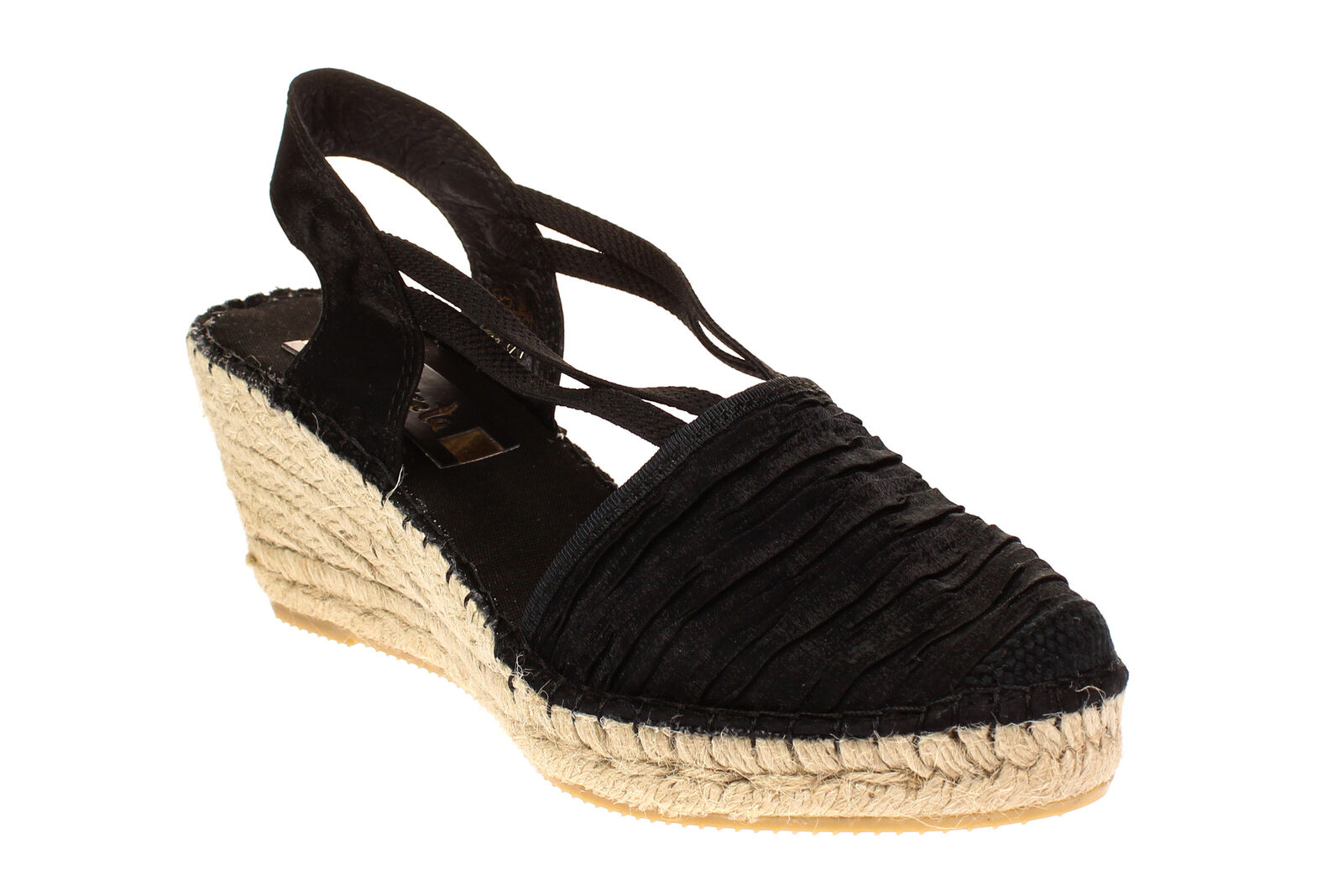 f6548a42f4fdde Vidoretta 18400-SEÑORA zapatos sandalias de cuña zapatos casual-estrella  negra