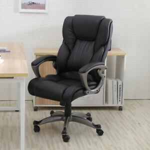 Black-PU-Leather-High-Back-Office-Chair-Executive-Task-Ergonomic-Computer-Desk