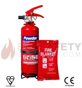NEW-1-KG-DRY-POWDER-FIRE-EXTINGUISHER-SMALL-FIRE-BLANKET