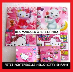 NEUF PETIT PRIX PORTEFEUILLE PLASTIFIE CHAT HELLO KITTY FILLE ENFANT PHOTO