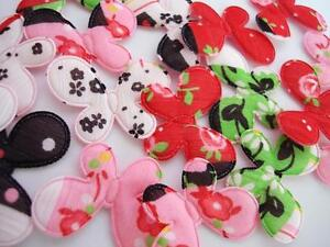 50 Cute Fabric Bear /& Foot Print Flower Applique Mix Set//trim//quilting//Baby H483