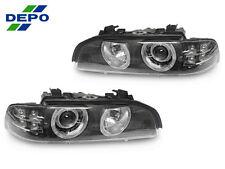DEPO 01-03 BMW E39 5 SERIES AMBER LED STOCK XENON D2S MODEL AUTO-LEVEL HEADLIGHT
