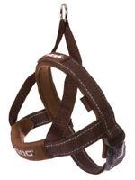 Ezydog Quick Fit Dog Harness - One Click - Adjustable Reflective Ezy Brown