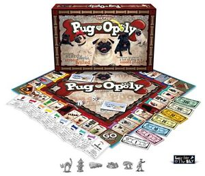 pug g game pug opoly pugopoly a pug themed monopoly game new in box 6652