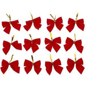 3X-12-Pcs-Nouveax-noeuds-de-papillons-suspendus-d-039-orement-d-039-Arbre-de-noel-R-K9Z2