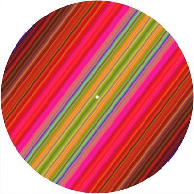 EVH Stripes Slipmat Slip Mat Scratch Pad Felt for any 12 LP DJ Vinyl Turntable Record Player Custom Graphical
