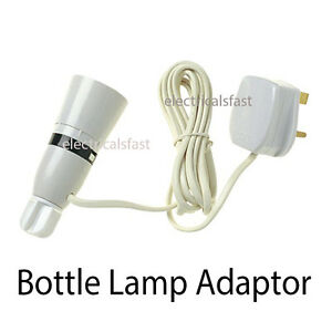 Bottle-Lamp-Adaptor-With-Flex-And-Plug-13A-FREE-SHIPPING
