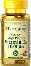 Vitamin D3 *10.000 IU x 100 Softgels MEGA POTENCY *AMAZING PRICE* 24HR DISPATCH