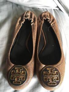 ae22eea840b7 Authentic Tory Burch Women s Reva Classic Ballet Flats Shoes 6.5 ...