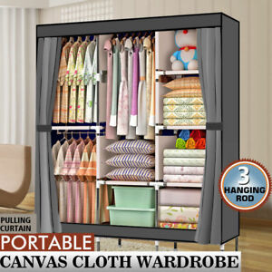 Image Is Loading 71 034 Portable Closet Wardrobe Clothes Rack Storage