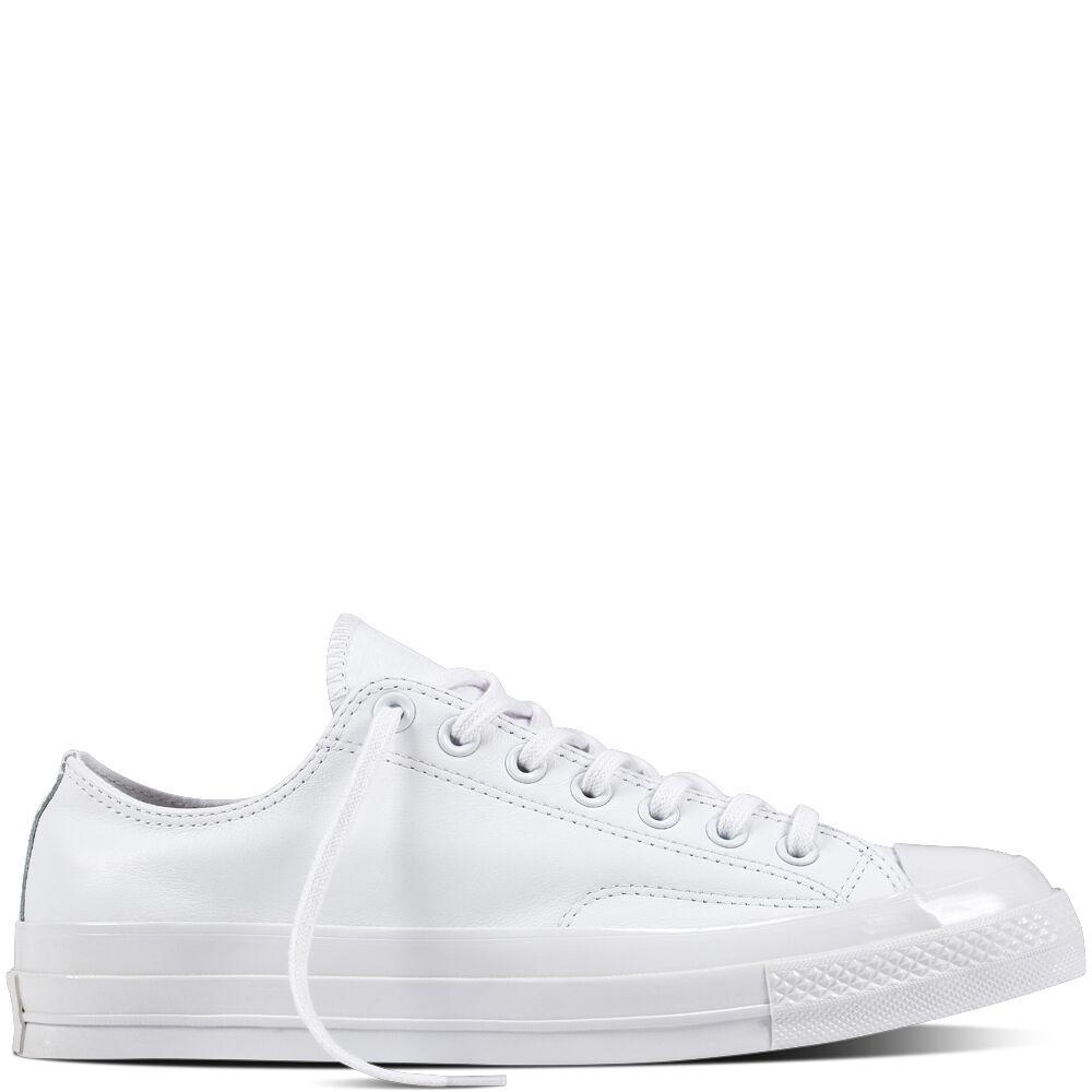 Zapatos promocionales para hombres y mujeres Converse 1970's Chuck Taylor Mono White Leather 155455C Ctas Trainers 70