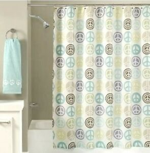 Exceptionnel Image Is Loading FABRIC Freespirit World Peace SHOWER CURTAIN