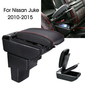 Central-Armrest-Console-Storage-Cup-Box-Slide-PU-Leather-For-Nissan-Juke-01-15