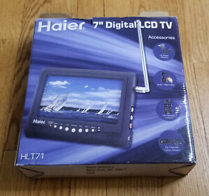 "Haier HLT71 7"" Portable Handheld Digital 720p LCD TV Complete In Box"