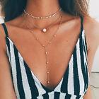 Women Pearl Bib Choker Pendant Charm Statement Necklace Chain Jewelry Fashion