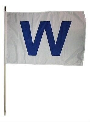"3x5 Embroidered Chicago Win Dark Large /"" W /"" 210D Nylon Flag 3/'x5/' w// Clips"