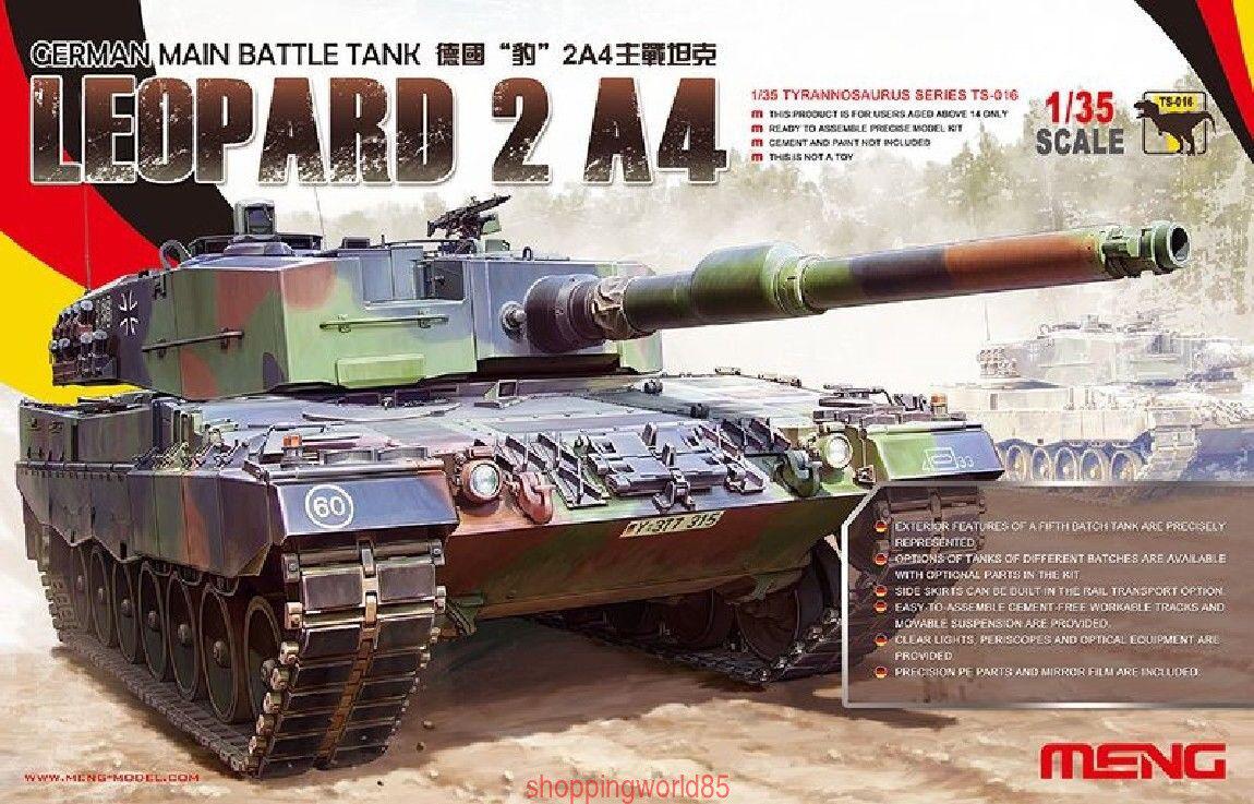 Meng Model 1 35 TS-016 German Main Battle Tank Leopard 2 A4