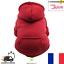Pull-Sweat-rouge-avec-Capuche-pour-Chien-ou-Chat-taille-XS-Neuf-FR miniature 1