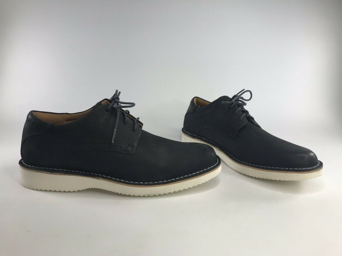 Florsheim Men's Navigator Genuine Leather Plain Toe Oxford shoes Navy Size 10.5W
