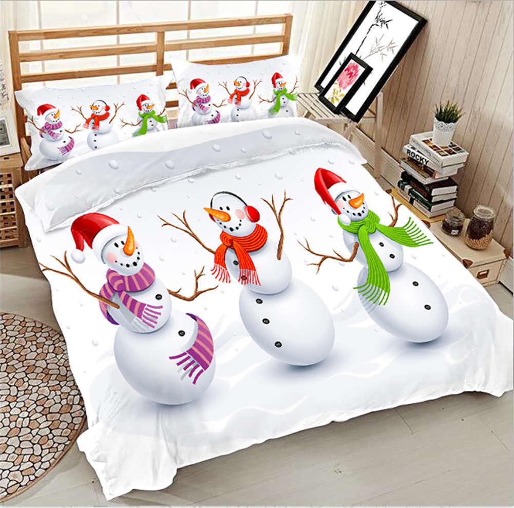 Playsome Snowhomme 3D impression couette courtepointe volonté des couvertures PilFaible cas literie ensembles