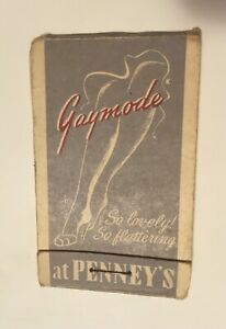 1940-039-s-50-039-s-Lion-Lipstick-Tissue-Booklet-Gaymode-Nylons-at-J-C-Penney