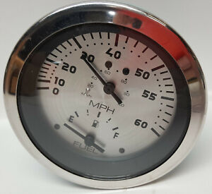 Marine-or-airplane-3-3-4-034-stainless-bezel-speedometer-fuel-level-combination