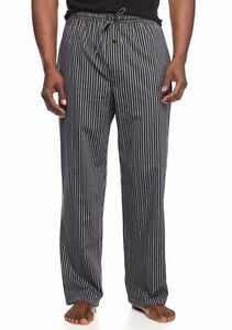 Nwt Black Striped Woven 100% Cotton Sleep Pants For Fast Shipping Saddlebred Men's S