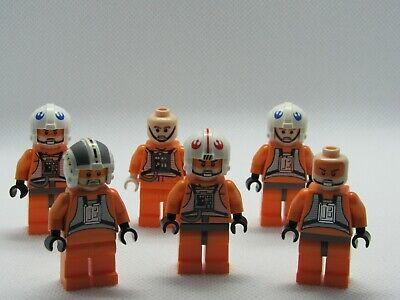 Lot 3 Lego Star Wars Minifigures Rebel Pilot X-Wing Y-wing Zev Senesca Rebel